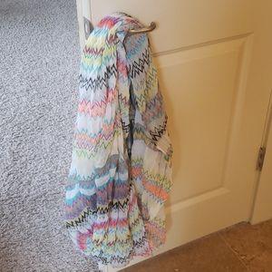 Multi-colored striped scarf
